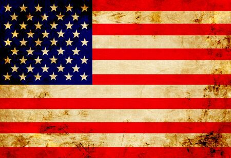 American flag with a vintage and old look photo