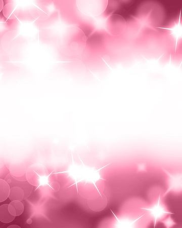 highlights: Pink glitters on a soft blurred background with smooth highlights