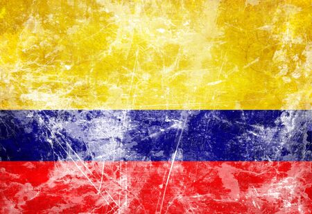 Colombian flag waving in the wind photo