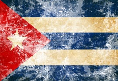 Кубинский флаг развевался на ветру Фото со стока