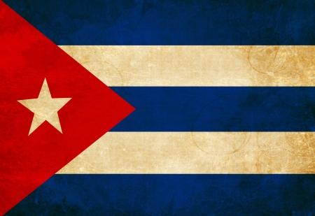 bandera cuba: Bandera cubana ondeando en el viento Foto de archivo