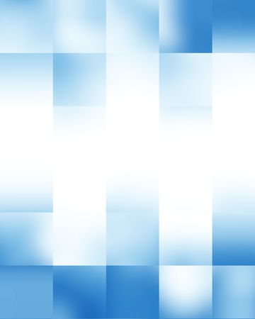 Blue rectangular glowing blocks background with some soft highlights Stock Photo - 15009184