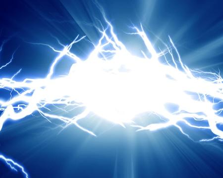 lightning strike: Intense electrical discharge on a dark background