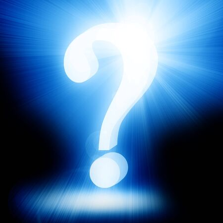unsolvable: Question mark on a soft dark background Stock Photo