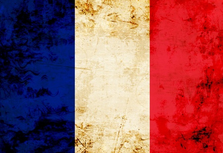 French flag with a vintage and old look photo