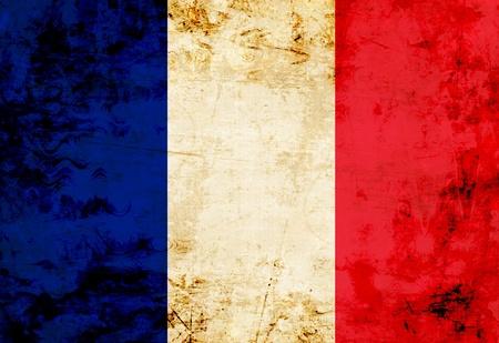 bandera francia: Pabell�n franc�s con un aspecto vintage y antiguos