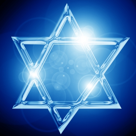 Star of David, representing the Jewish religious symbol Stock Photo - 15009412