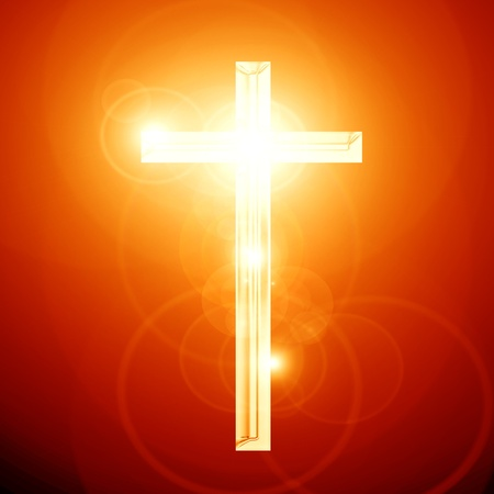 Christianity representation with the symbol of a cross Stock Photo - 15009414