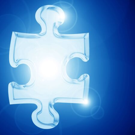 Glowing puzzle piece with some soft highlights Stock Photo - 15009417