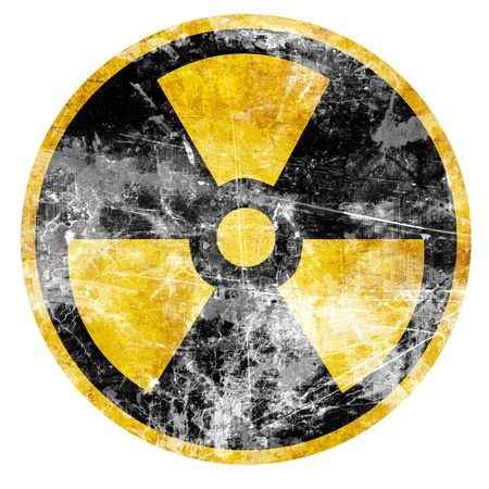 atomic symbol: Nuclear sign representing the danger of radiation  Stock Photo