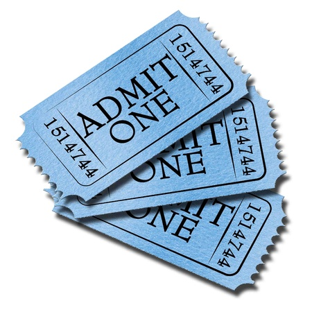 Admit ticket on a solid white background photo