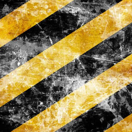 Black and yellow hazard lines with grunge effects Stock Photo - 15009612