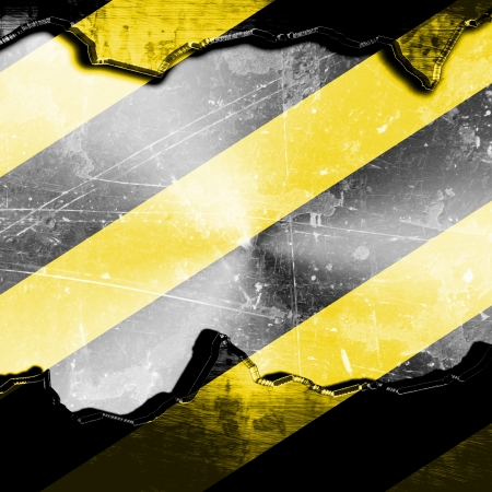 Black and yellow hazard lines with grunge effects Stock Photo - 15009538
