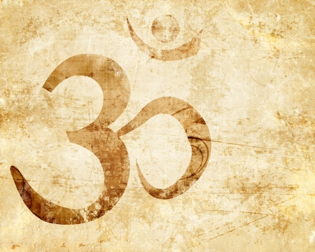 highlights: Om symbol with some smooth lines and highlights Stock Photo