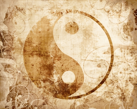 ancient philosophy: Yin Yang sign with some highlights and reflections