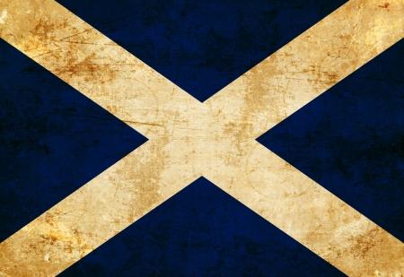 scottish flag: Bandiera scozzese con un look vintage e vecchi Archivio Fotografico