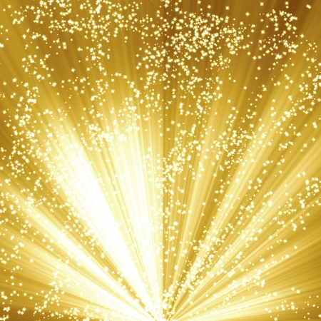 Golden christmas or festive background with soft highlights and  shades Stok Fotoğraf - 15009673