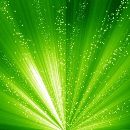 Green and fresh background with soft highlights and sparkles Stock Photo - 15009447