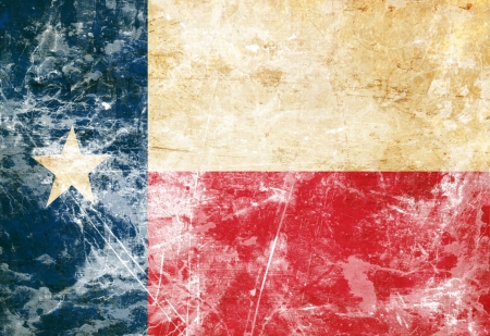 Texan flag with a vintage and old look photo