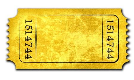raffle ticket: Admit ticket on a solid white background