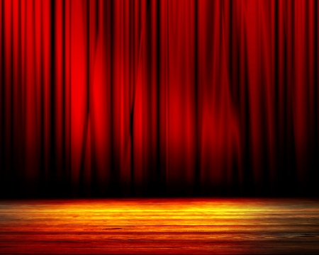 curtain theatre: Movie or theater curtain with soft shades