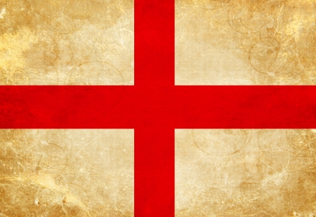 old english: English flag with a vintage and old look