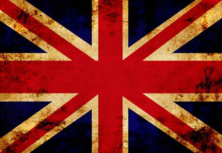 UK flag with a vintage and old look photo