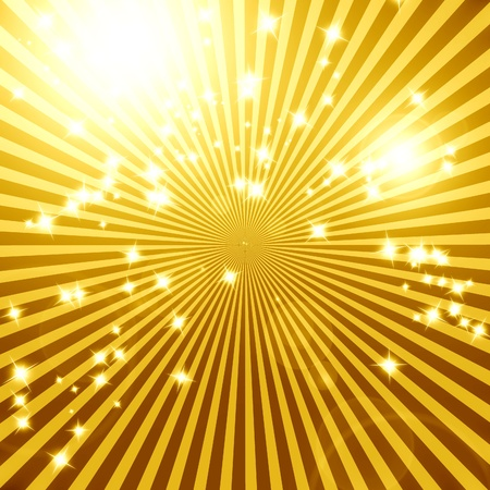 Vintage background with several lines beaming out Stock Photo - 15140099