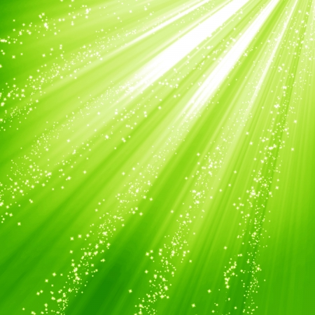 shimmering: Green and fresh background with soft highlights and sparkles