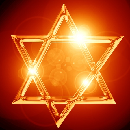 Star of David, representing the Jewish religious symbol Stock Photo - 15140041