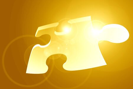 Glowing puzzle piece with some soft highlights Stock Photo - 15139953