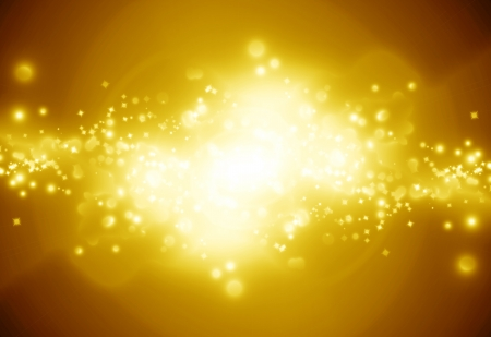 Golden sparkling background with intense glowing sparkles and glitter photo