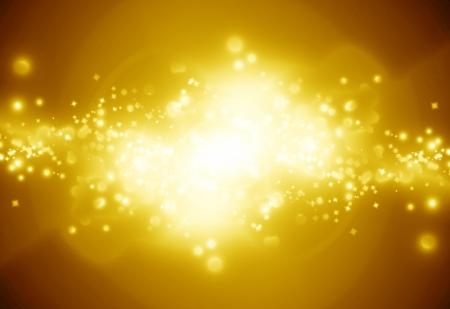 Światła: Złote tło musujące z intensywnymi świecące błyszczy i blask