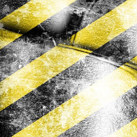 Black and yellow hazard lines with grunge effects Stock Photo - 15140662