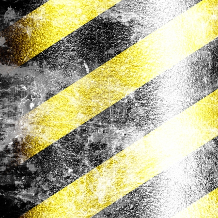 Black and yellow hazard lines with grunge effects Stock Photo - 15140660