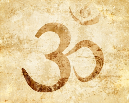 mantra: Om symbol with some smooth lines and highlights Stock Photo