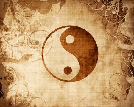 yin yang: Yin Yang firmar con algunos toques de luz y reflejos