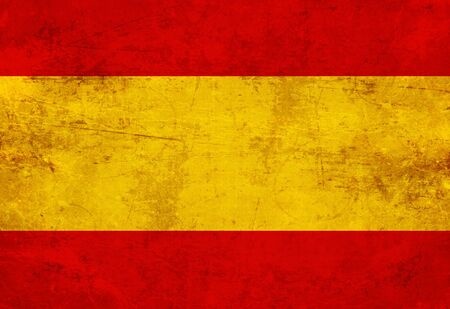 Spanish flag with a vintage and old look photo