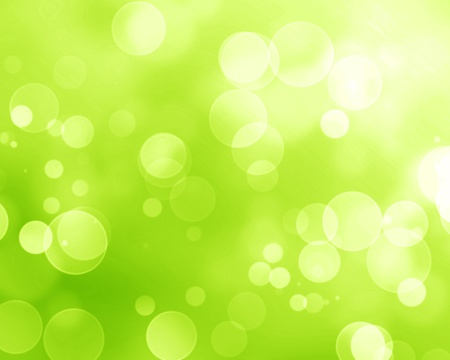 Green and fresh background with soft bokeh effects and white overlapping circles Stock Photo - 15139974