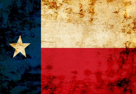 texan: Texan flag with a vintage and old look Stock Photo