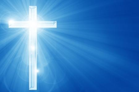 Christendom vertegenwoordiging met het symbool van een kruis