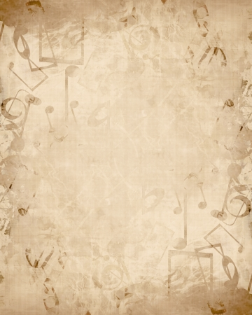 Old music sheet with musical notes photo