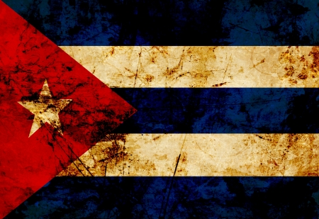 Cuban flag waving in the wind photo