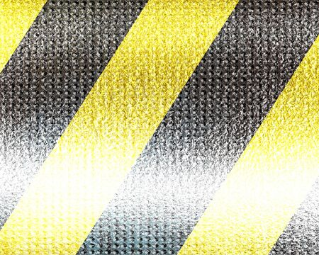 Black and yellow hazard lines with grunge effects Stock Photo - 15612791