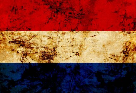 Dutch flag with a vintage and old look photo