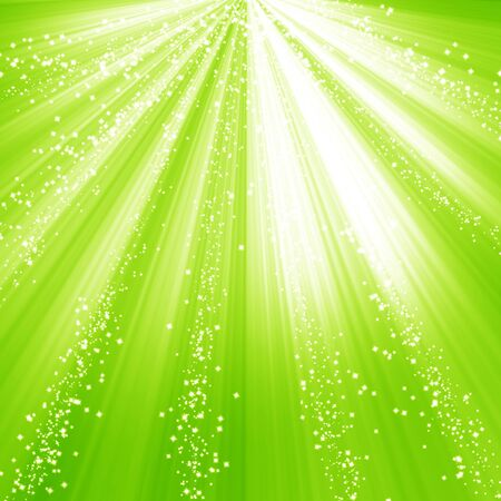 Green and fresh background with soft highlights and sparkles Stock Photo - 15612696