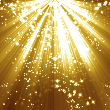 shimmering: Golden christmas or festive background with soft highlights and  shades Stock Photo
