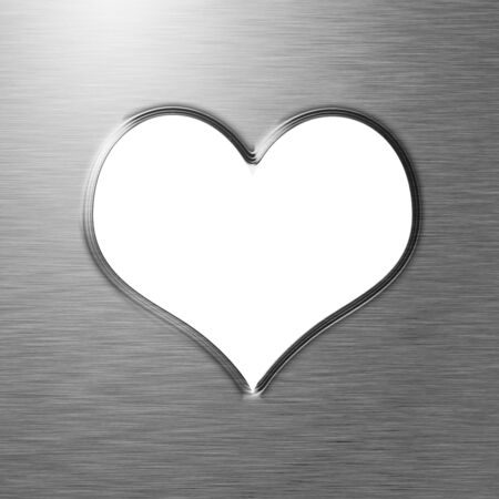 Metallic heart with some soft reflections and highlights Stock Photo - 15612707