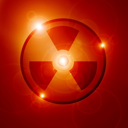 Nuclear sign representing the danger of radiation  Stock Photo - 15612674