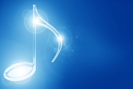 Colorful musical note on a soft dark background Stock Photo - 15612580